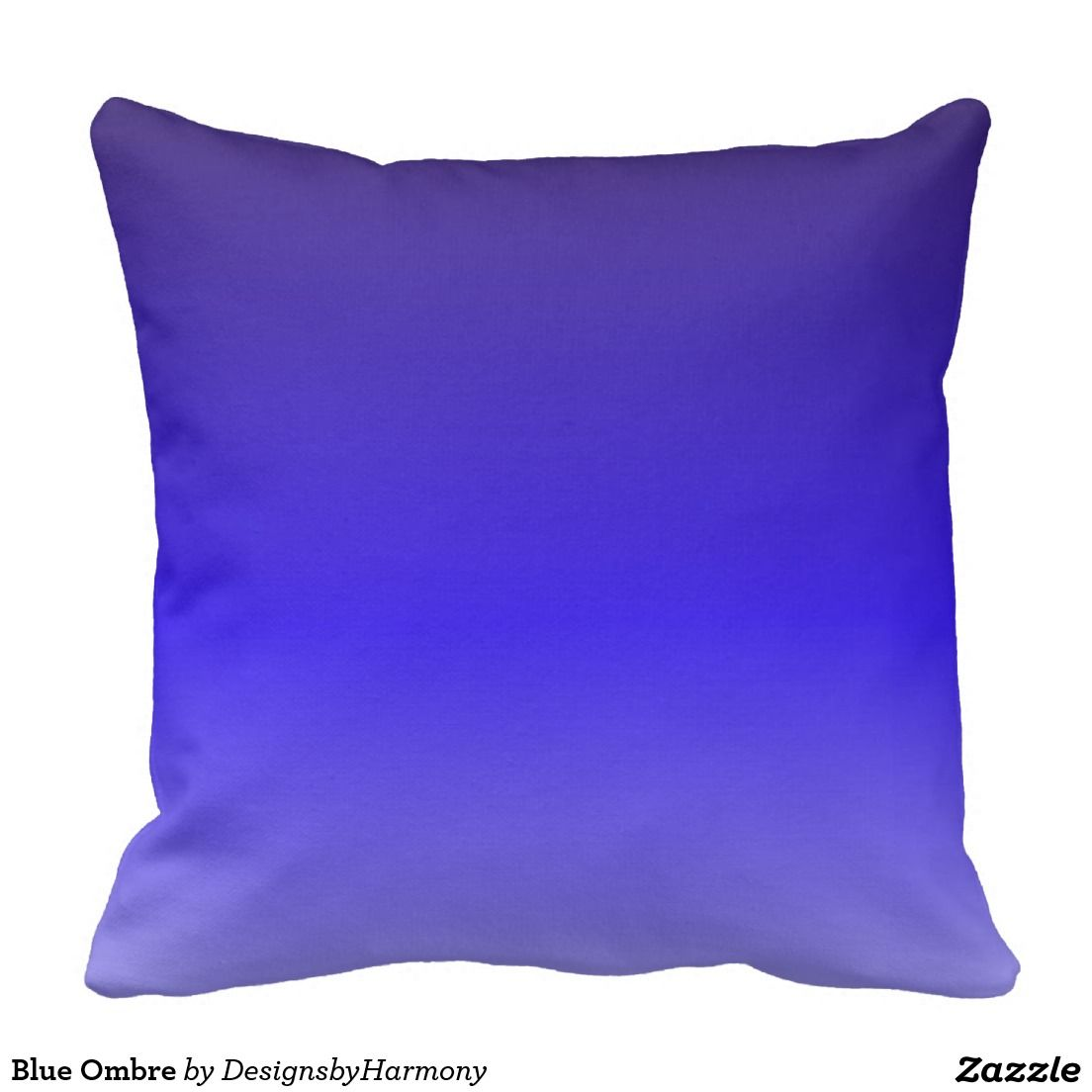 Blue Ombre Throw Pillow