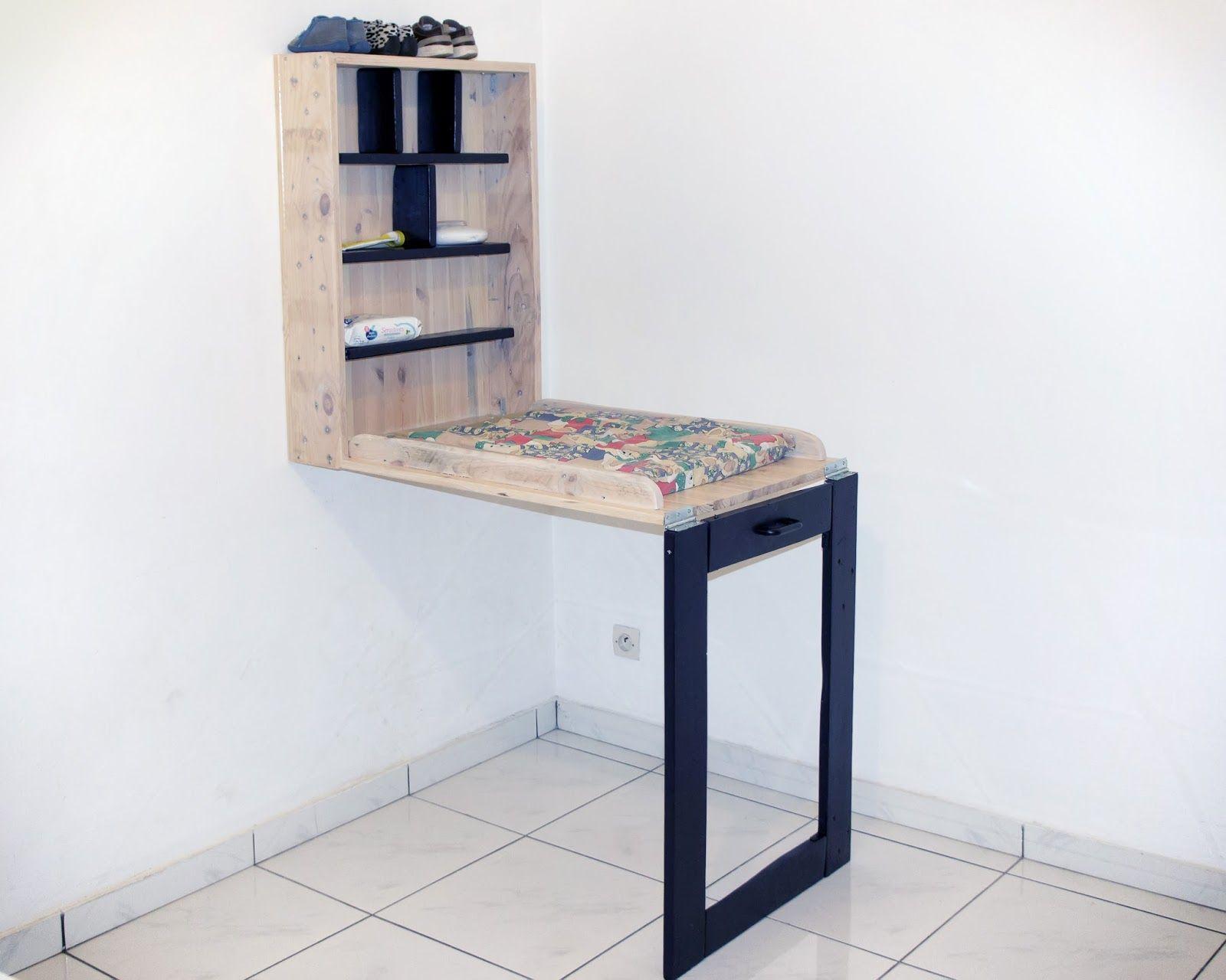 Récup & design Table  langer cadre en bois de palettes de manute