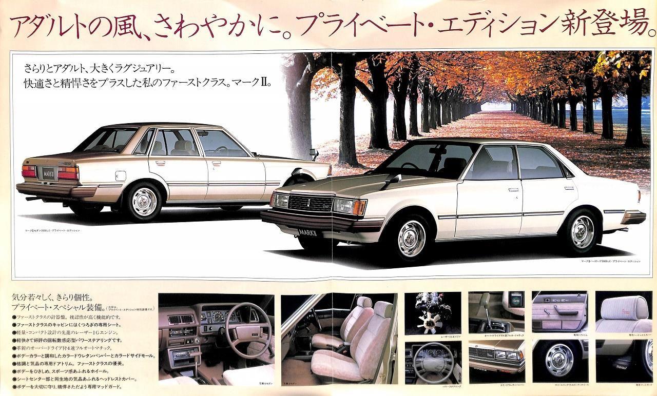 マークii プライベート エディションのカタログ トヨタ 古い車 ノスタルジック カー