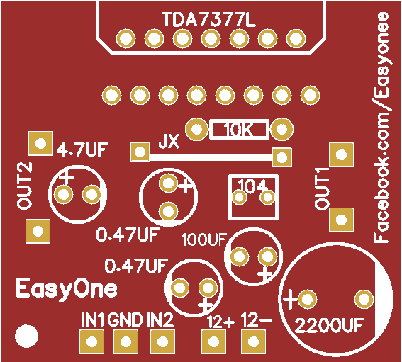 audio amplifier using TDA7377 - Share Project - PCBWay ...