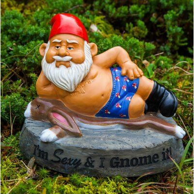 Big Mouth Toys The Sexy and I Gnome It Statue
