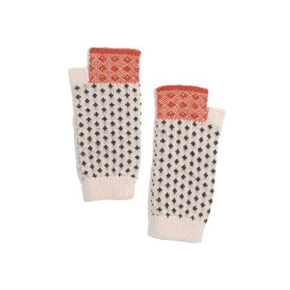 Madewell - Barbour® Ordley Fair Isle Fingerless Mittens ...