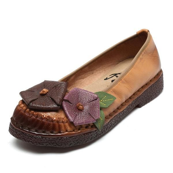 Coutures En Cuir Souple Chaussures Plates n7RdOTY