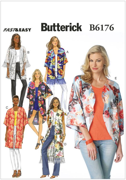 Look no further for your ladies kimono Butterick sewing pattern 6176 ...