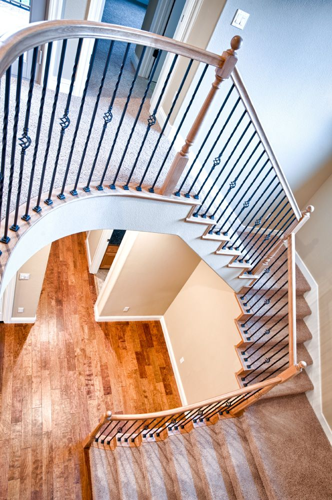 Exquisitely detailed spiral staircase! Roseville West Colonial Estates Residence 3 (3,366 sq. ft.) | Premier United