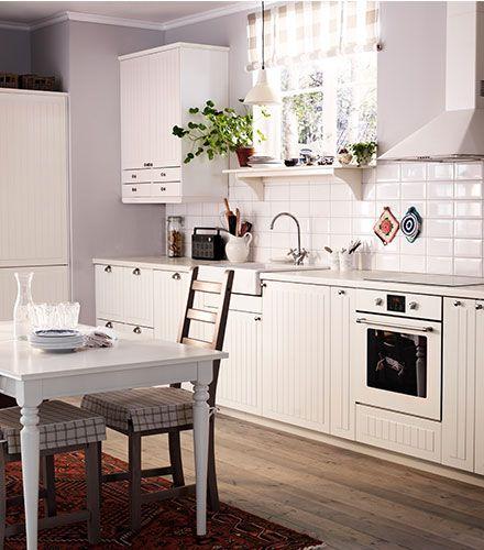Cocina r stica cocina blanca cocinas pinterest - Cocina rustica blanca ...