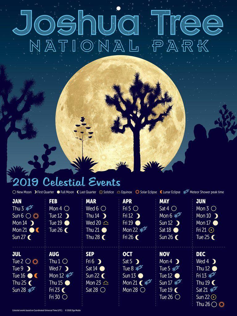 Joshua Tree National Park Celestial Events Calendar 2019 Event