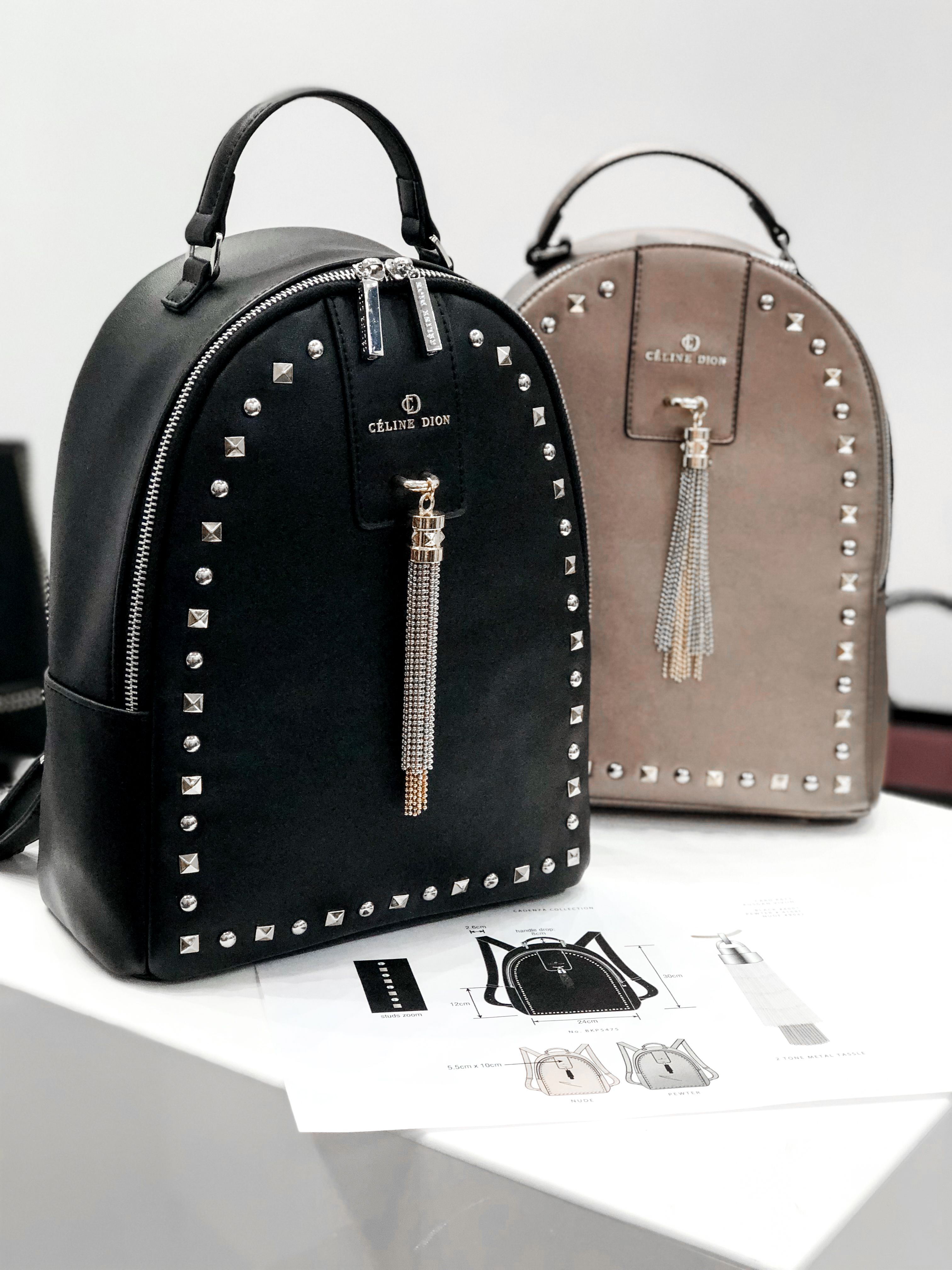 475bcfe87ffd CADENZA - BACKPACK l Céline Dion Collection l Structured leather-like  backpack with top zip