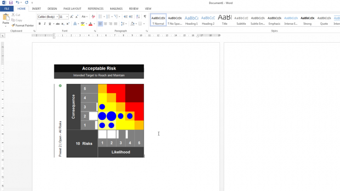 Risk Template In Excel Risk Heat Maps Or Risk Matrix Pasted In A