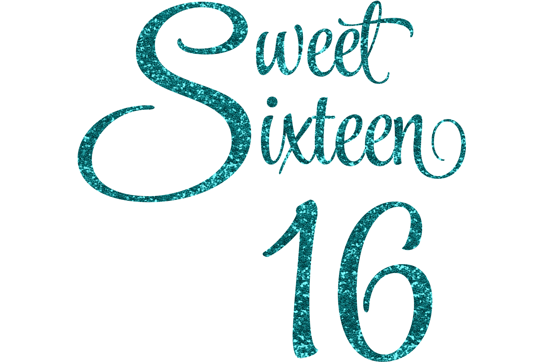 Sweet Sixteen 16 Glittery Graphic By Am Digital Designs Creative Fabrica Sweet Sixteen Sweet 16 Shirts Sixteen
