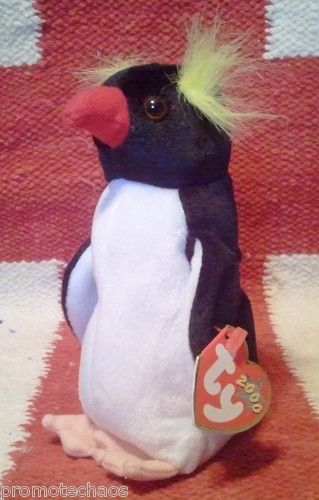 Beanie Baby Frigid Penguin Black White Yellow Hair Tuxedo P E Cute Ugly Toy   4d71ee7e0c7