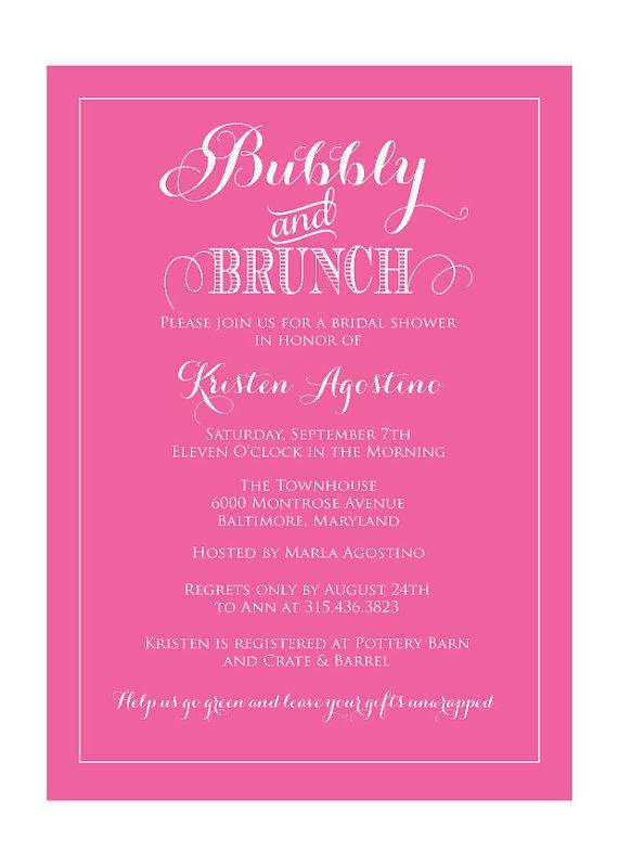 Bridal Shower Brunch Invitation (Digital file) | Brunch invitations