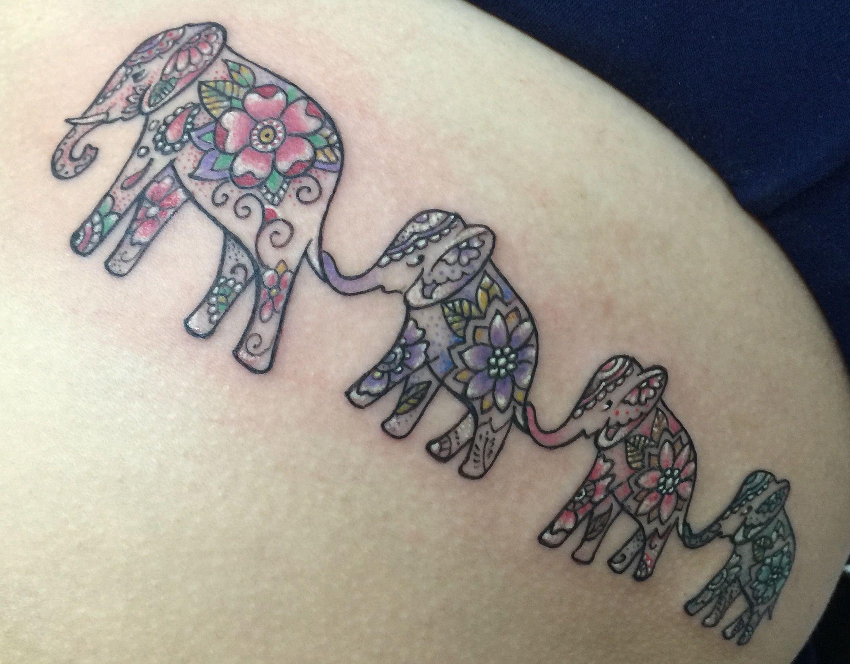 Elephant family tattoo SouthInkpr Tattos by: John Collazo | otros ...