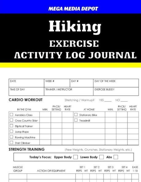Hiking Exercise Activity Log Journal