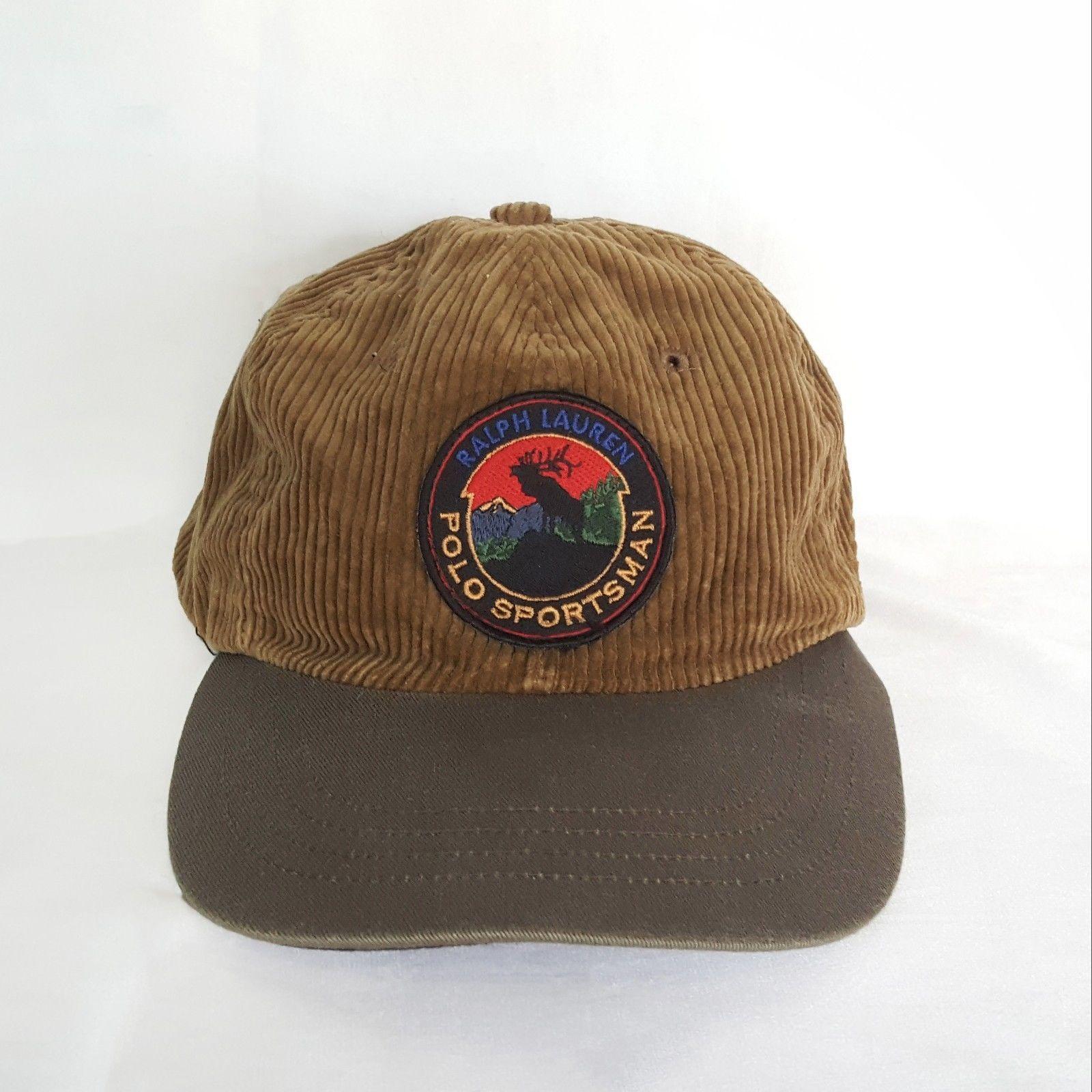 dc7f4a6af8d2 Vtg Polo Sport Ralph Lauren1 Sportsman Moose Hunting Patch Corduroy ...