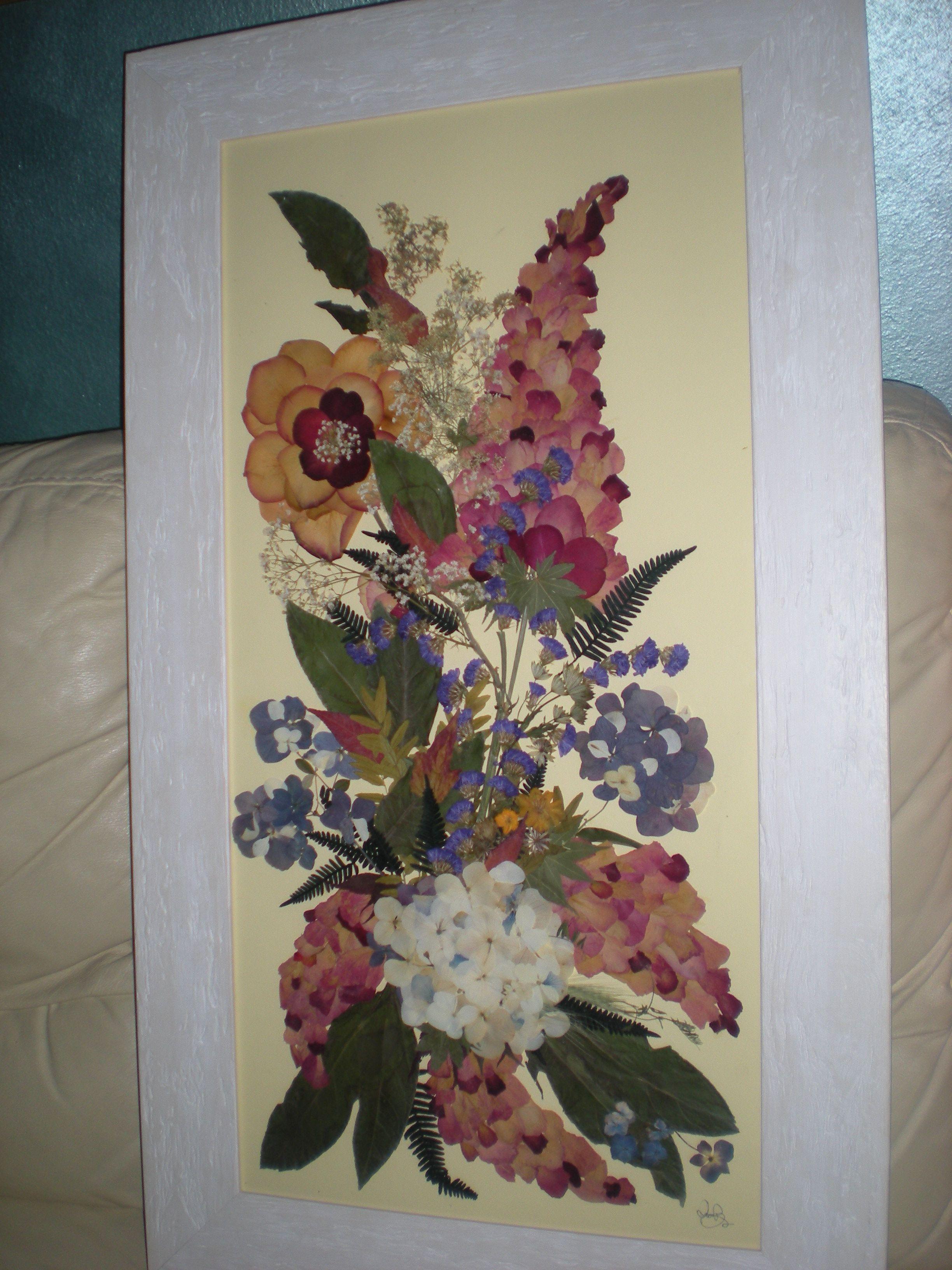 QUADRO fiori pressati Fiori pressati, Fiori secchi, Fiori