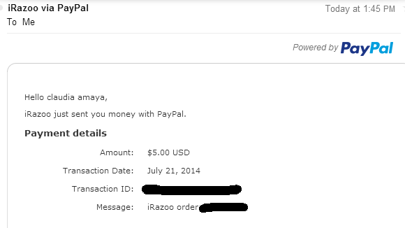 $5 Paypal payment proof from Irazoo! | Get Paid To/GPT Sites