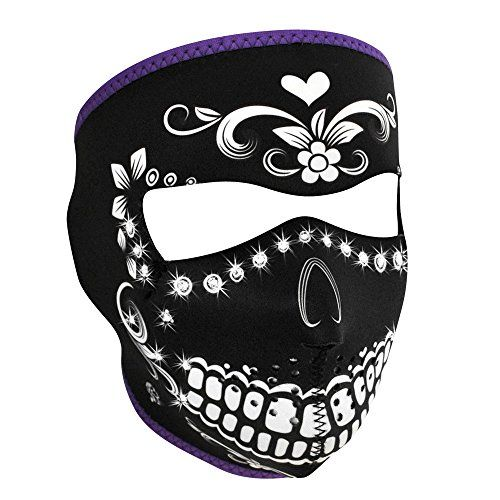 AZORA Motorcycle Skeleton Mask for Halloween Cosplay Leather Mask Half Face for Out Riding Motorcycle for Men Women