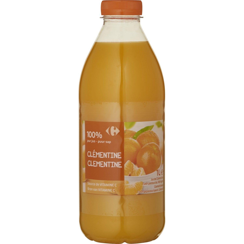 Jus De Clementine 100 Pur Jus Carrefour La Bouteille D 1l A Prix Carrefour Pur Jus Jus Clementine