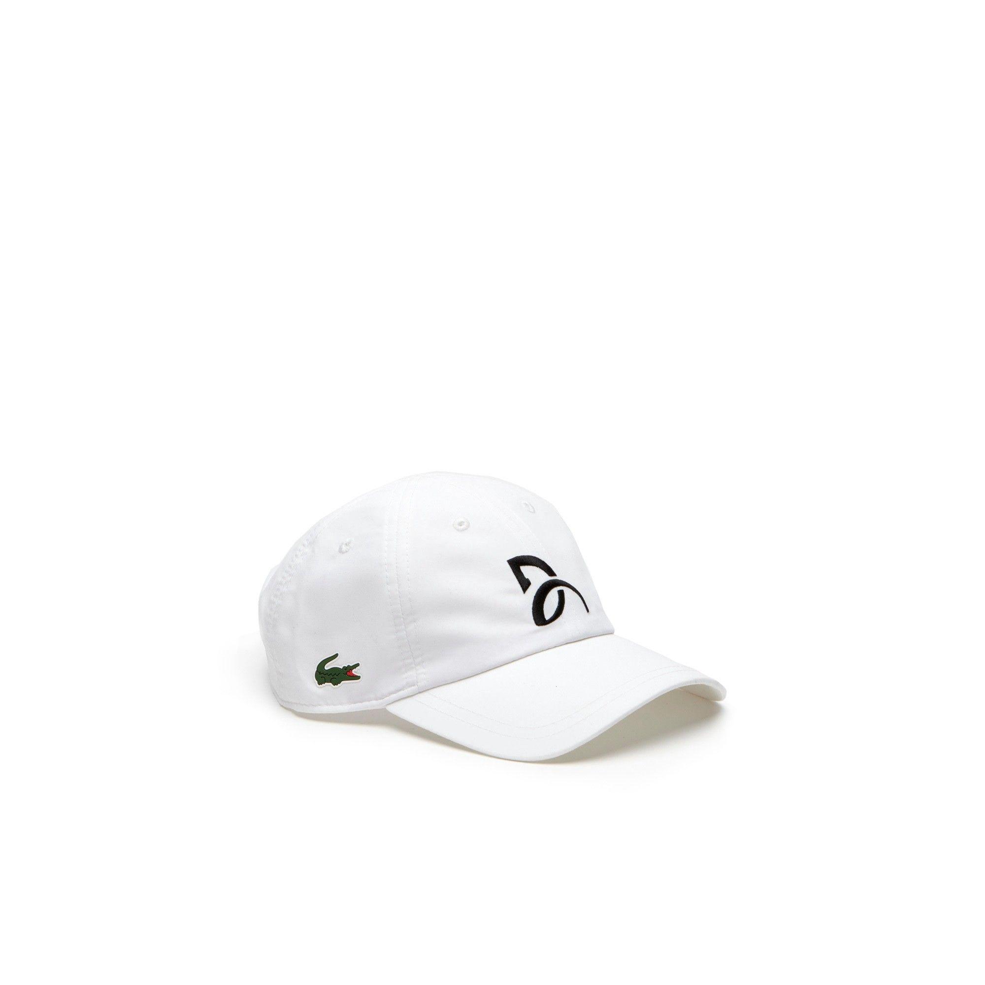 b29fece6d3ab60 LACOSTE Men s Lacoste SPORT Tennis Novak Djokovic Logo Microfiber Cap -  white.  lacoste  cloth