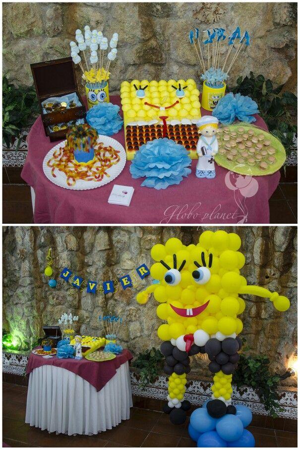 Bob esponja decoracion con globos pinterest - Decoracion bob esponja ...