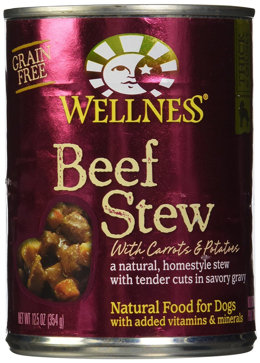 Wellness Dog Food Stew Carrot and Potato Can, Beef, 12.5