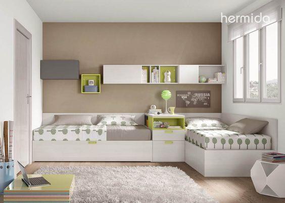 camas cruzadas juveniles - Buscar con Google | Habitación Peques ...