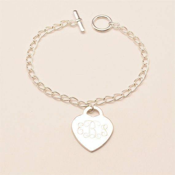 Friendship Gift. Engraved heart charms Personalized heart bracelet Heart bracelet engraved Bridesmaid Gift Gift for her Christmas Gift