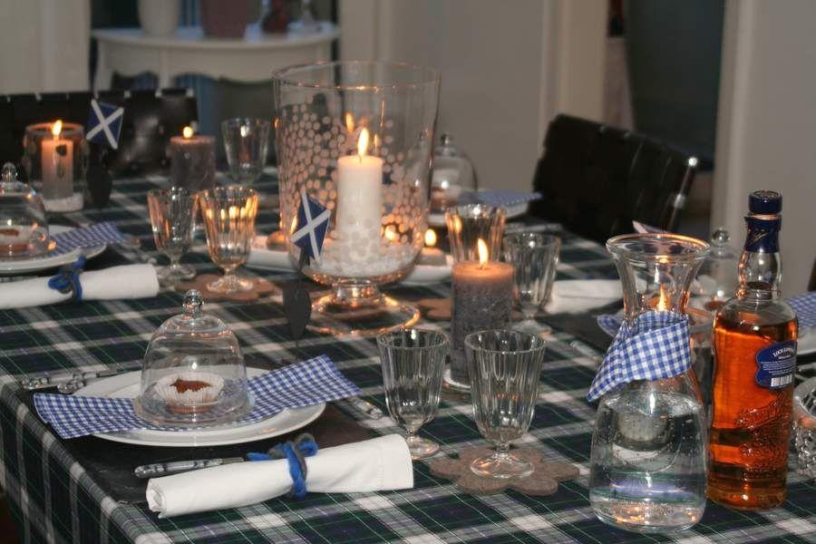 Rezepte Tischdeko Menü Schottland schottische Tischdekoration - www ...