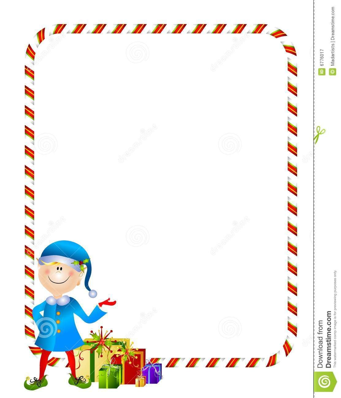 Christmas Elf Border