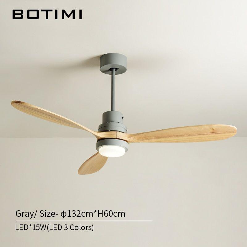 Online Shop Botimi 北欧木製 52 インチ Led シーリングファンリビング