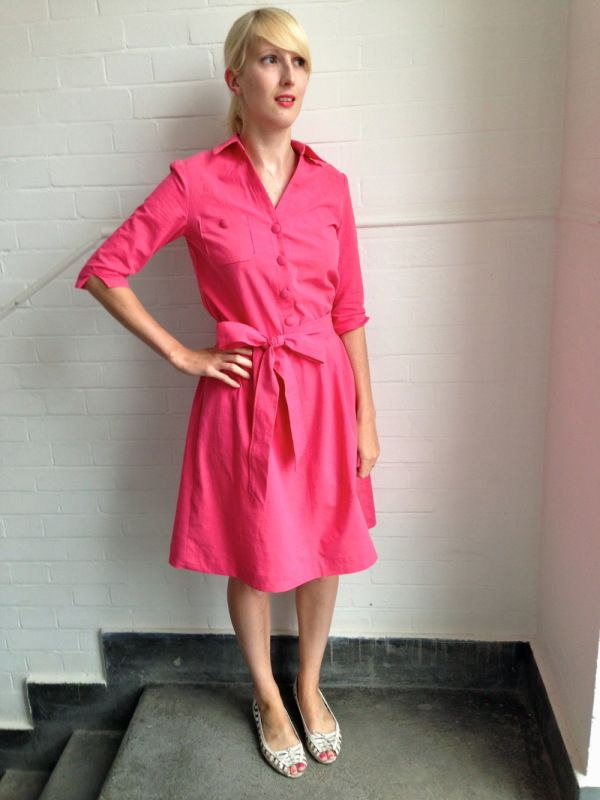 Minerva Blogging Network New Look 6180 Dress Making Patterns Coral Dress Shirt Pink Dress Shirt