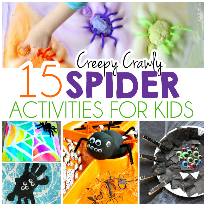 15 creepy crawly spider activities for kids - Halloween Spider Craft Ideas