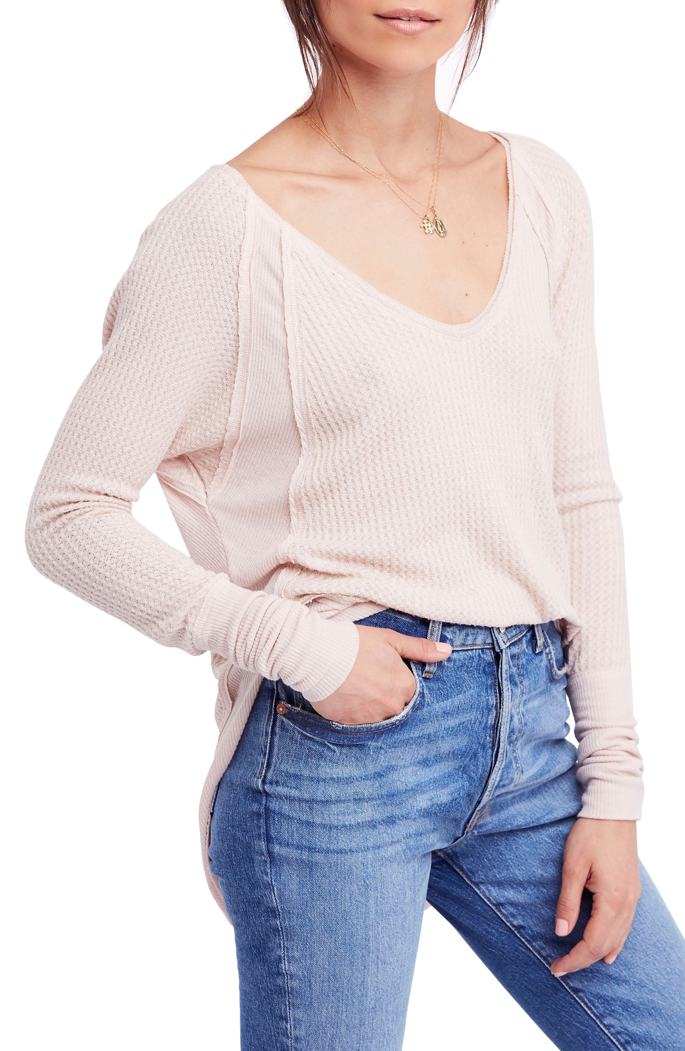077eeb28d4f4e8 We the Free by Free People Catalina V-Neck Thermal Top