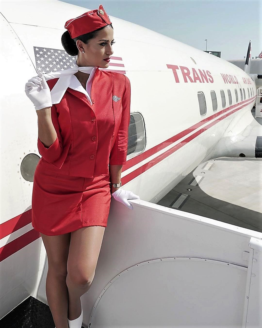 Free sexy airline stewardess kat von