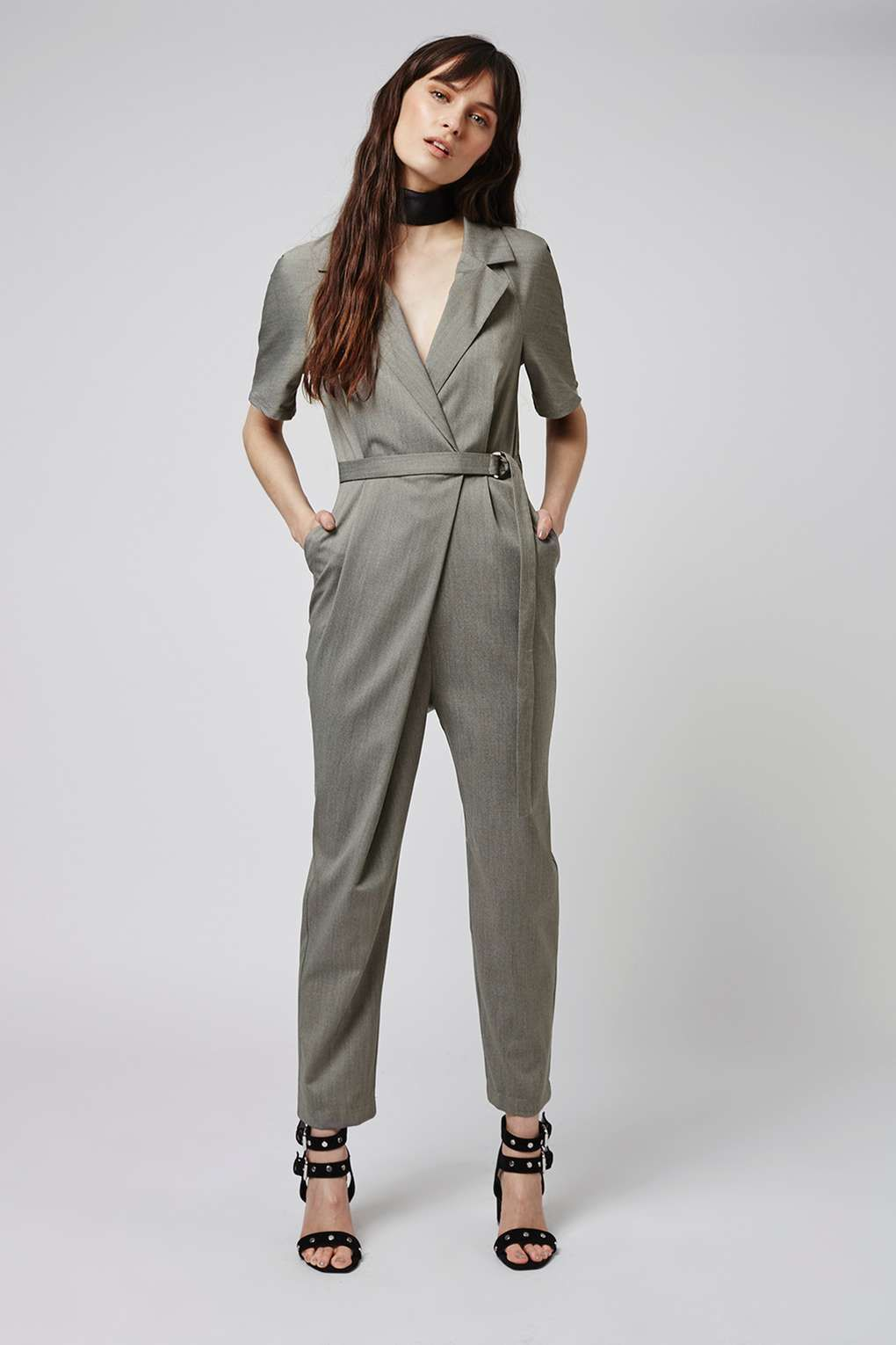 ea5ff18a6a1 Wrap Belted Jumpsuit