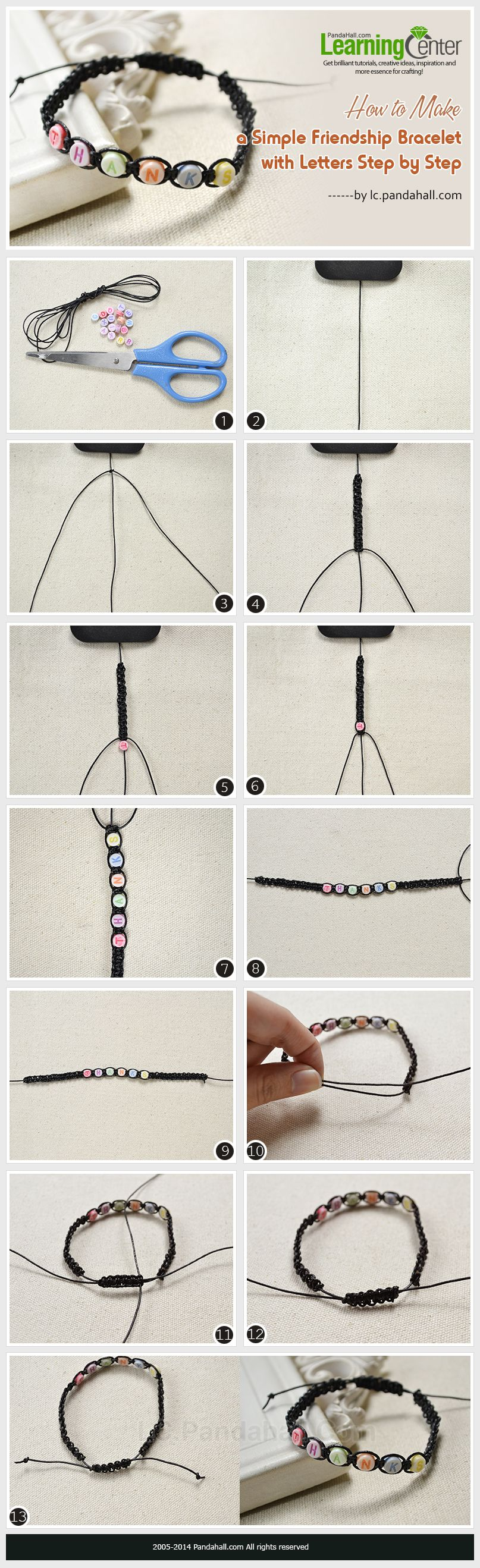 How to make friendship bracelets with beads step by