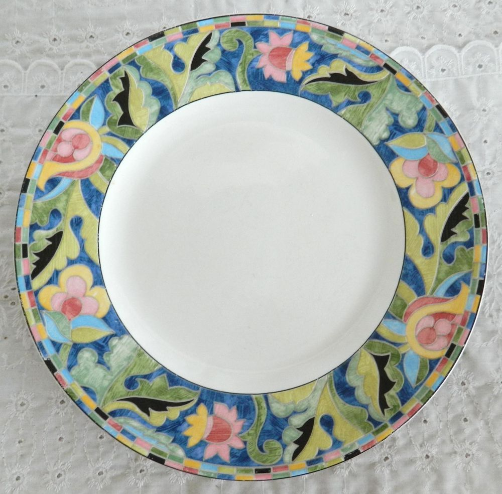 Set of 6 PTS International Interiors FANTASIA 10 3/4\  Dinner Plates Stoneware # & Set of 6 PTS International Interiors FANTASIA 10 3/4\