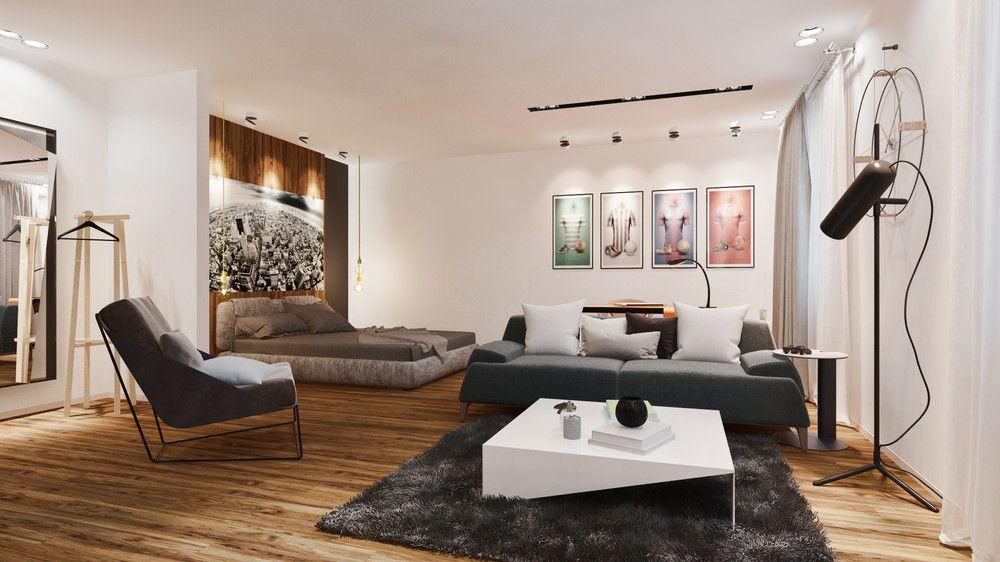 Спальня в современном стиле 35 квм, автор Юлия Кравцова, конкурс