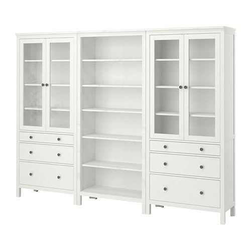 Hemnes Storage Combination W Doors Drawers Black Brown Furniture