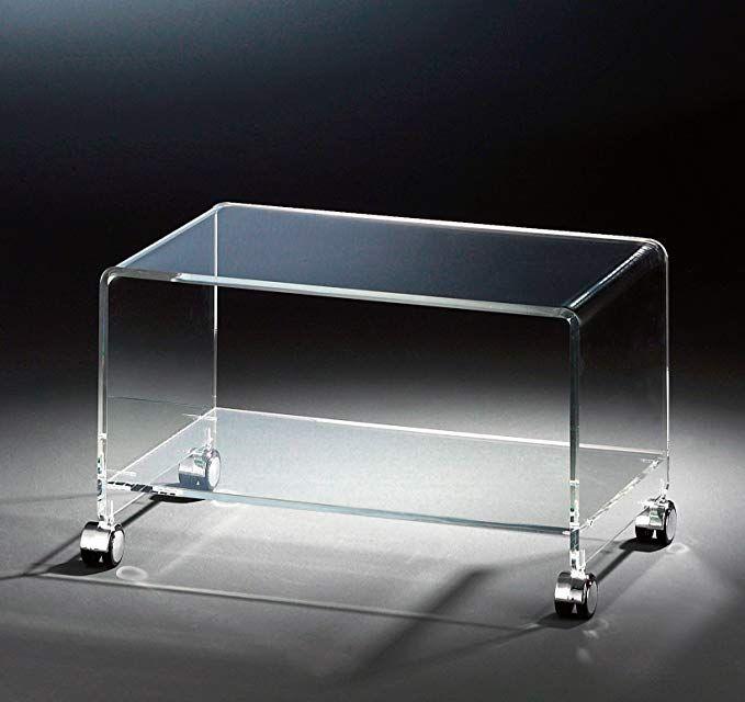 HOWE-Deko Hochwertiger Acryl-Glas TV-Wagen/TV-Tisch Mit 4