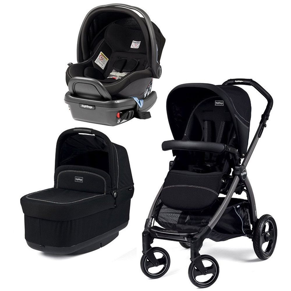 Peg Perego Book Pop Up Stroller With Primo Viaggio 4 35 Infant Car Seat Onyx