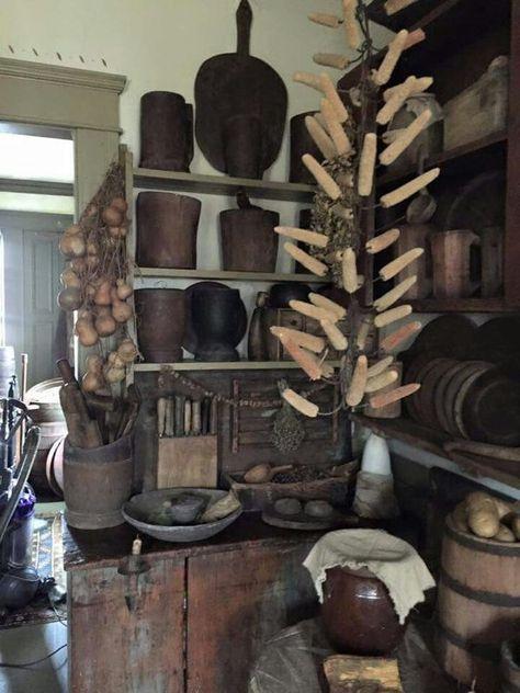 Schon Primitive Homes, Schlichte Küchen, Urtümliches Dekor, Urtümliches Dekor,  Landhaus Dekor, Country Stil, Vintage Farmhouse, Bauernhausstil, ...
