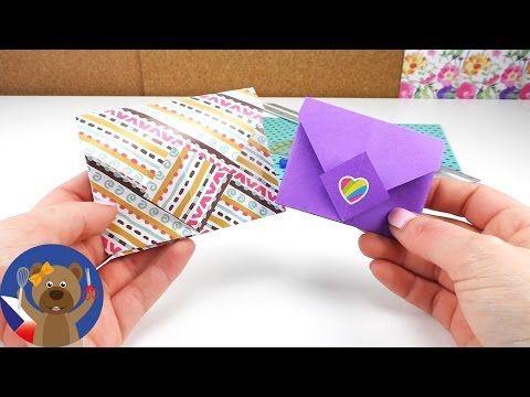 Jak složit obálku Origami DIY / Jak si složit jednoduše barevný dopis Tutorial   česky - YouTube