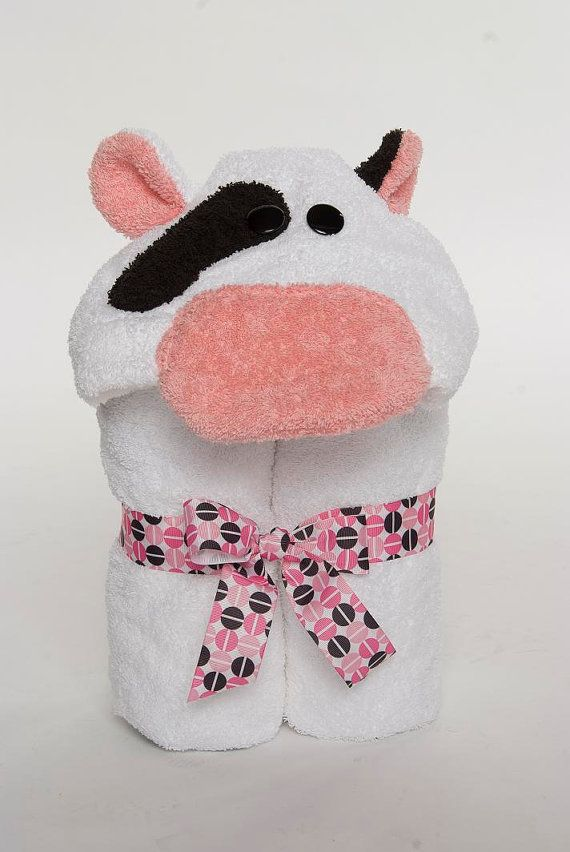 Cow hooded towel crafts pinterest cow towels and etsy cow hooded towel homemade baby giftscow negle Choice Image