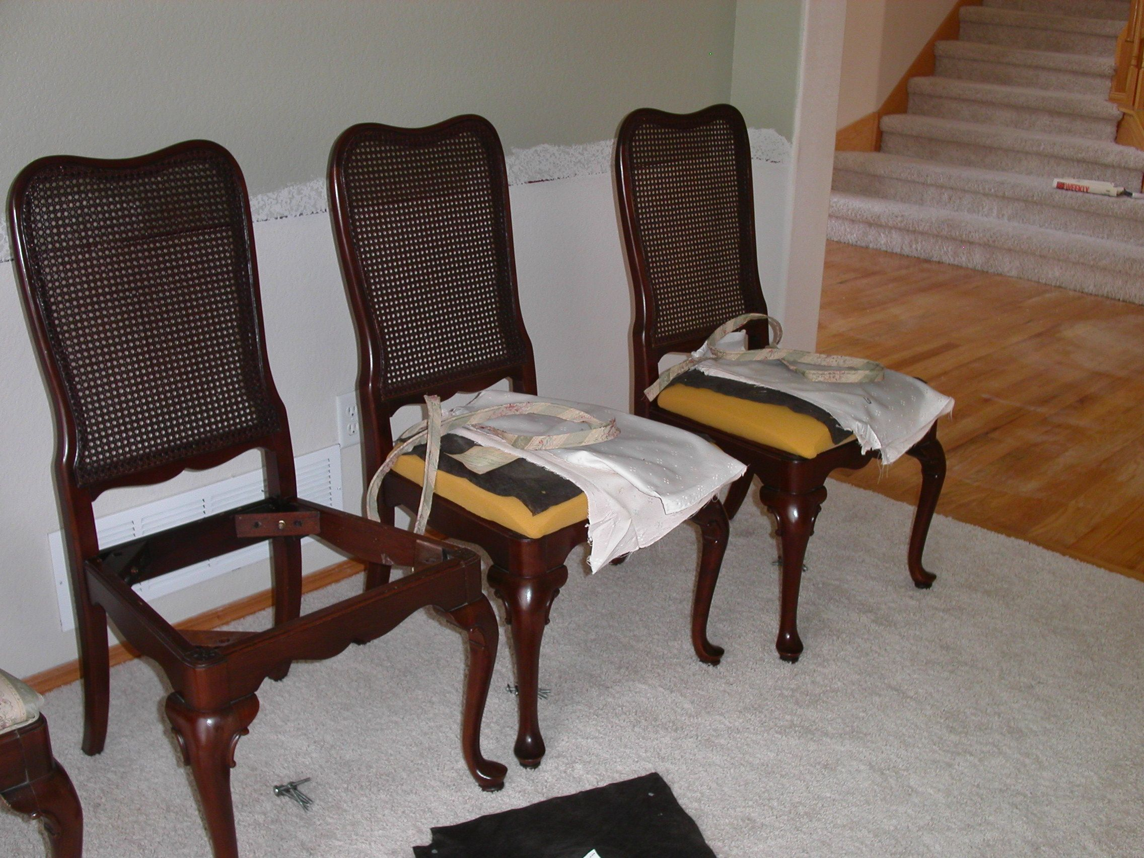 How To Reupholster A Dining Room Chair Prepossessing Decor Reupholster Dining Room Chair How To Recover A Dining Room Decorating Design