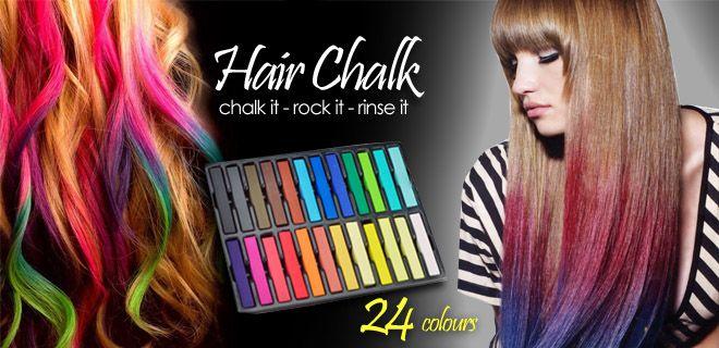Chalk Hair Color A Trend Temporary Color Hair Chalk Fun Fast Easy ...