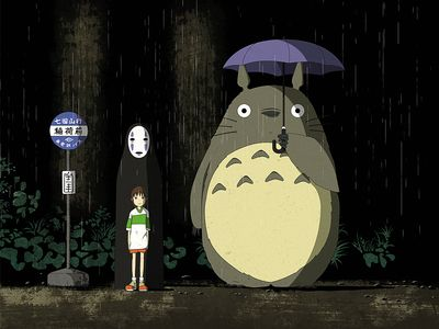 Ghibli Bus Stop Ghibli Ghibli Art Illustration Art