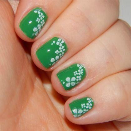 Shamrock Nail Art for St. Patrick's Day. So cute! | Passion for nails! |  Pinterest | Kid nail art, Kid nails and Fun nails - Shamrock Nail Art For St. Patrick's Day. So Cute! Passion For