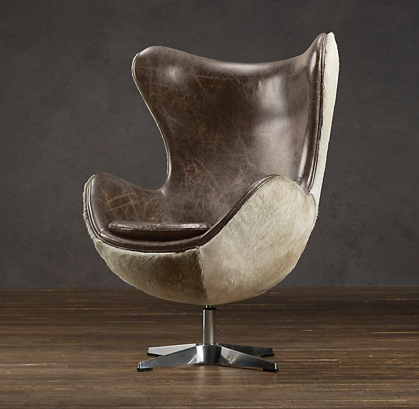 Copenhagen Chair (hair On Hide)   Restoration Hardware (reproduction Of The  Arne Jacobsen Egg Chair)